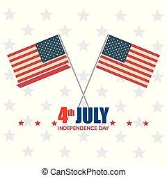 bandiera, stati uniti, giorno indipendenza