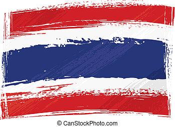 bandiera tailandia, grunge
