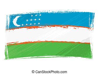 bandiera uzbekistan, grunge