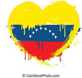 bandiera venezuela, grunge