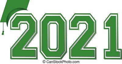 bandiera, verde, classe, 2021, graduazione