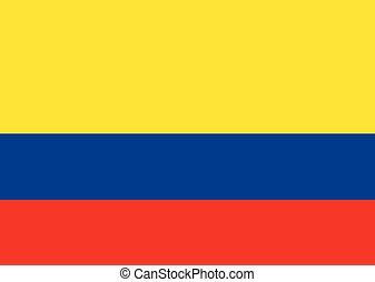 bandiera, vettore, colombia