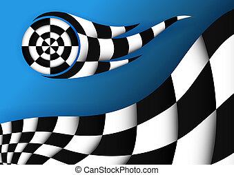 bandiera, vettore, da corsa, fondo
