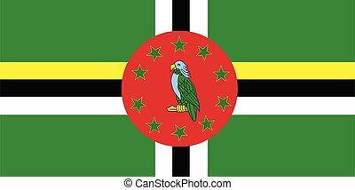 bandiera, vettore, dominica