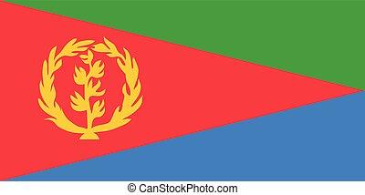 bandiera, vettore, eritrea