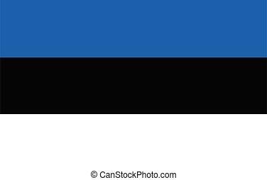 bandiera, vettore, estonia