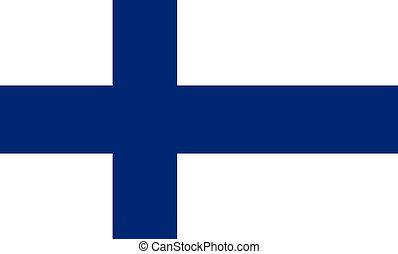 bandiera, vettore, finlandia