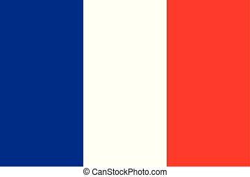 bandiera, vettore, fondo, francia
