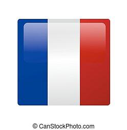 bandiera, vettore, francese