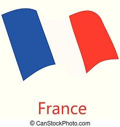 bandiera, vettore, francia