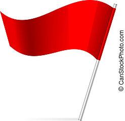 bandiera, vettore, illustrazione