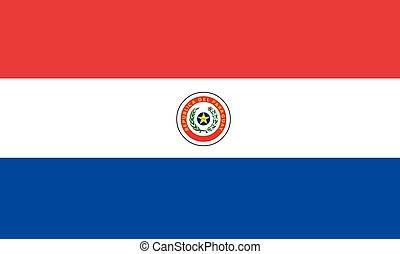 bandiera, vettore, paraguay