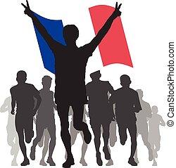 bandiera, vincitore, francia