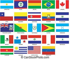 bandiere, americas