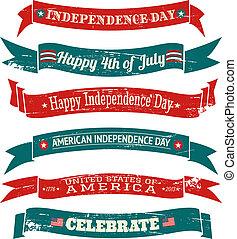 bandiere, giorno, collezione, indipendenza