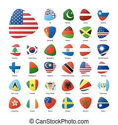 bandiere, mondo