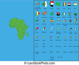 bandiere, tutto, africa