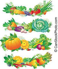 bandiere, verdura