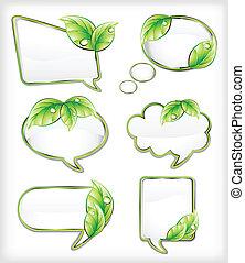 bandiere, vettore, illustrazione, leaf.