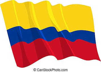 bandierina ondeggiamento, politico, colombia
