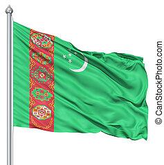 bandierina ondeggiamento, turkmenistan