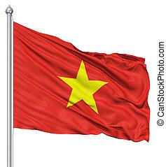 bandierina ondeggiamento, vietnam