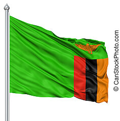 bandierina ondeggiamento, zambia