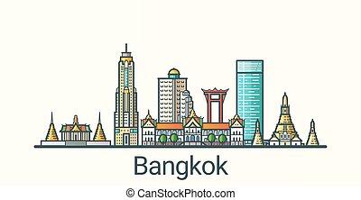 bangkok, linea fissa, bandiera