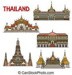 bangkok, punto di riferimento, viaggiare, tailandese, architettura