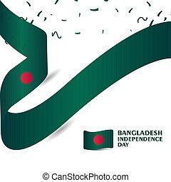 bangladesh, illustrazione, vettore, disegno, sagoma, giorno, indipendenza