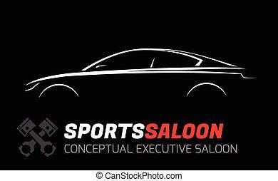 bar, esecutivo, silhouette, sport