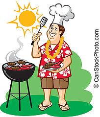 barbecue, (bbq), papà