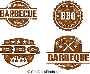 barbecue, francobolli