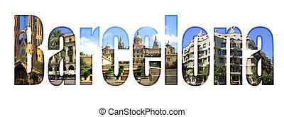 barcellona, differente, turista, macchie