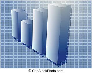 barchart, finanziario, illustrazione