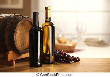 barile, selezione, uva, vino