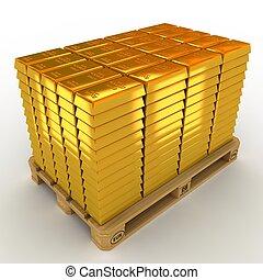 barre, pallet., lotto, oro