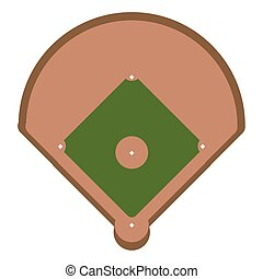 baseball, base, campo