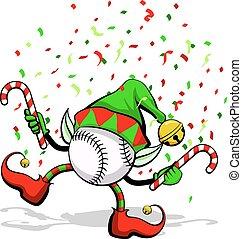 baseball, elfo, natale