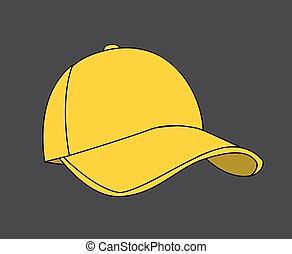 baseball, illustrazione, vettore, berretto