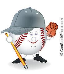 baseball, sorridente
