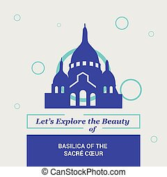 basilica, bellezza, coeur, nazionale, parigi, francia, lasciarli, esplorare, sacre, limiti