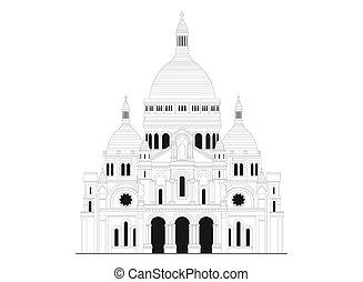 basilica, coeur, -, francia, 1, sacro, sacre