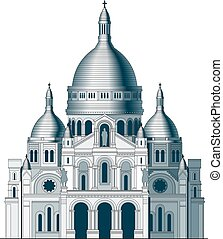 basilica, coeur, -, francia, 2, sacro, sacre