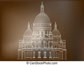 basilica, coeur, -, francia, 3, sacro, sacre