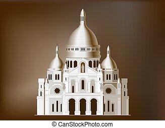 basilica, coeur, -, francia, 4, sacro, sacre