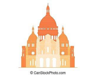 basilica, coeur, -, francia, 5, sacro, sacre