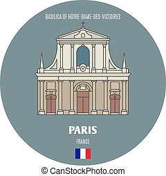 basilica, parigi, francia, notre-dame-des-victoires