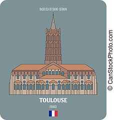 basilica, toulouse, francia, saint-sernin