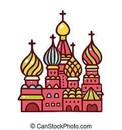 basilico, russia, cathedral., mosca, santo